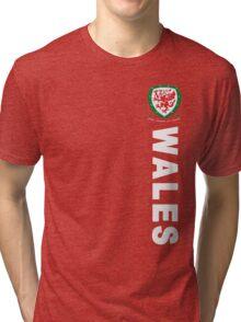 Wales Sport Football  Tri-blend T-Shirt
