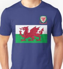 Wales Flag & Crest Football Deluxe Design Unisex T-Shirt