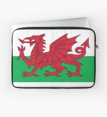 Wales Flag & Crest Football Deluxe Design Laptop Sleeve