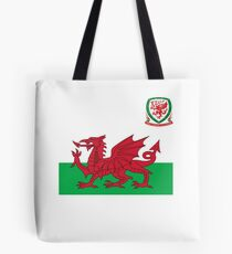 Wales Flag & Crest Football Deluxe Design Tote Bag