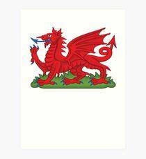 Cymru Wales Dragon Deluxe Design Art Print