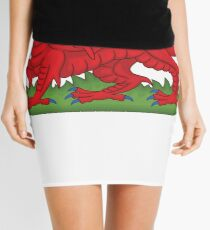 Cymru Wales Dragon Deluxe Design Mini Skirt