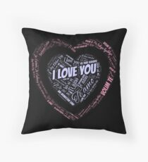 """""""I love you"""" in different languages Throw Pillow"""