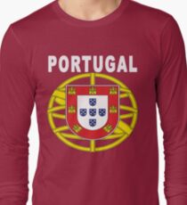 Original Portuguese National Seal Design Long Sleeve T-Shirt