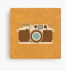Retro 35mm Camera Canvas Print