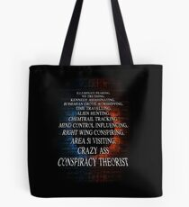 Conspiracy Theory Design Tote Bag