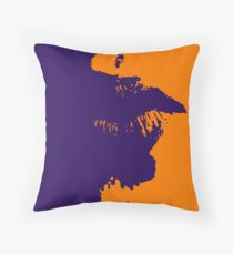 Purple Orange Lips Throw Pillow