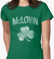 McLovin Irish Shamrock Women's Fitted T-Shirt