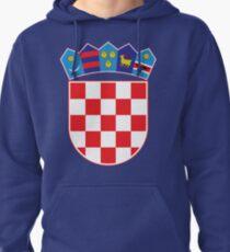 Croatia Hrvatska Original Coat of Arms Design Pullover Hoodie