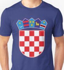 Croatia Hrvatska Original Coat of Arms Design Unisex T-Shirt