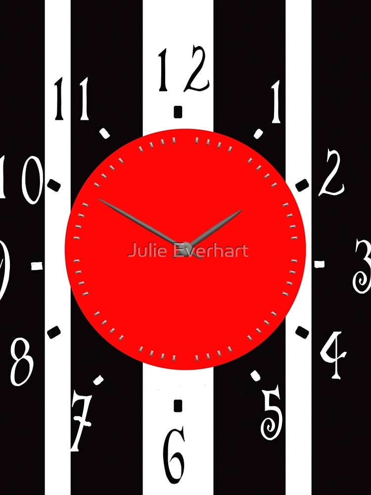 Black and White Clock  by julev69