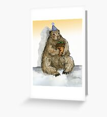 Groundhog Phil's Birthday Party Greeting Card