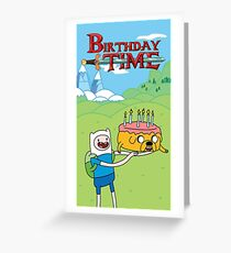 Birthday Time - Adventure Time Celebrations Greeting Card