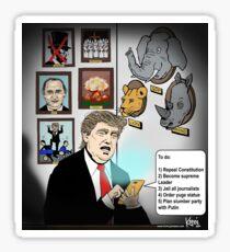 Trump 3AM tweeting - with hidden pictures Sticker