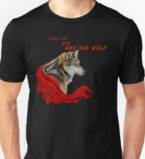 Red ridinghood  wolf  Unisex T-Shirt