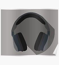 Minimal Headset Poster