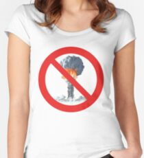 No nuclear explosion tests. Women's Fitted Scoop T-Shirt