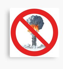 No nuclear explosion tests. Canvas Print