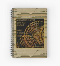Doily Corner With Quote Spiral Notebook