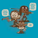 Rick, Carl, and Michonne by DoodleHeadDee