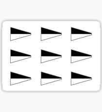 Multiple Number 6 Nautical Pennant Sticker