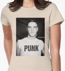Elvis is a Punk Womens Fitted T-Shirt