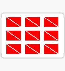 Multiple Diver Down Flag Sticker