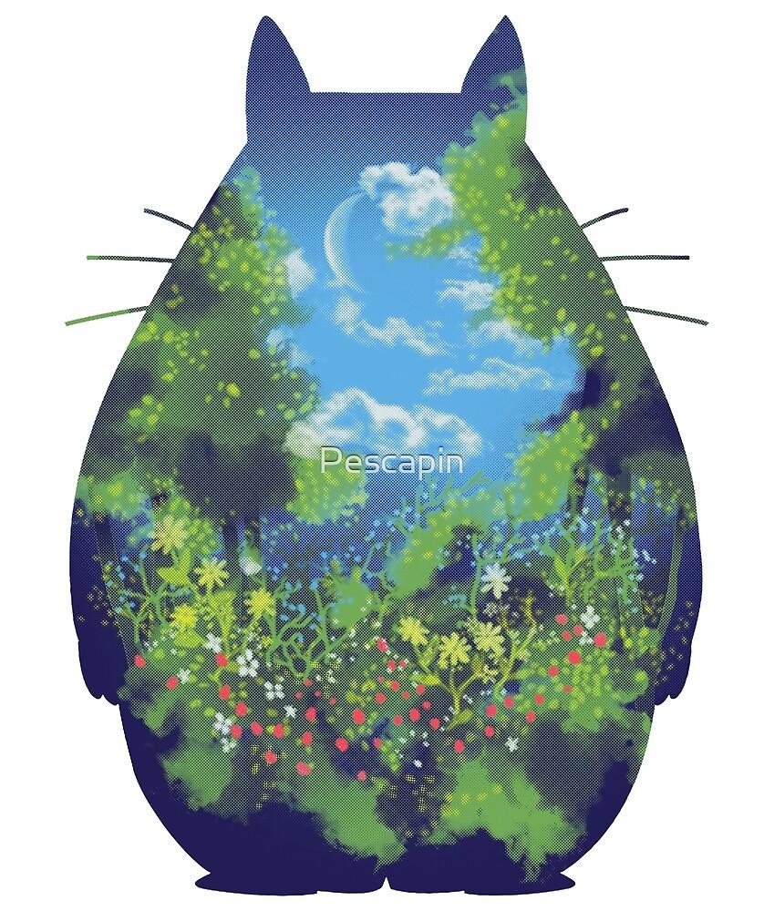 Anime Landschaft Kreatur von Pescapin