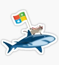 Ninja Cat Shark Sticker