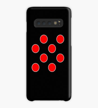Cube 8 - Red Polka Dots  Case/Skin for Samsung Galaxy