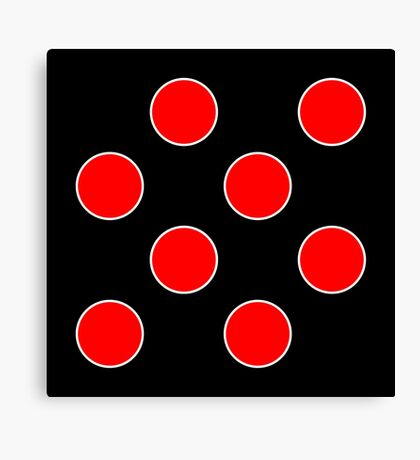 Cube 8 - Red Polka Dots  Canvas Print