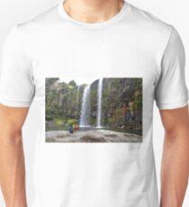 The Lego Backpacker enjoying a break at a waterfall T-Shirt