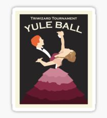 Yule Ball minimal Sticker