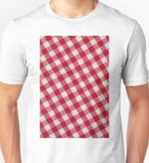 Red classic checkered tablecloth texture T-Shirt