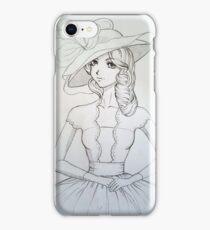 beautiful lady Victorian era iPhone Case/Skin