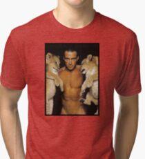 Jean Claude Van Damme Cats Tri-blend T-Shirt