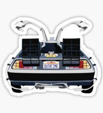 Zurück in die Zukunft Delorean 'OUTATIME' Sticker