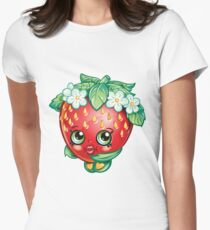Shopkins Strawberry Kiss Womens Fitted T-Shirt