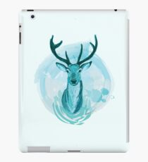 Blue Stag Illustration iPad Case/Skin