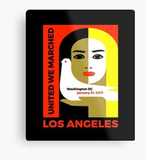 Women's March On Los Angeles 2017 Collectible  Metal Print