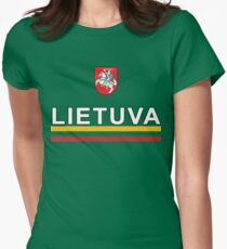 Lithuanian Lietuva National Soccer Jersey Womens Fitted T-Shirt