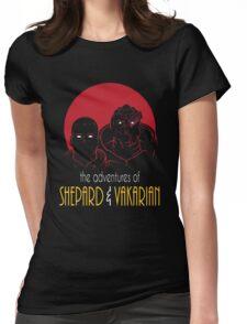 Adventures of BroShep and Vakarian Womens Fitted T-Shirt