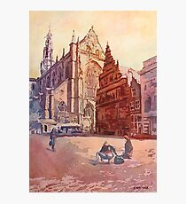 Haarlem Kirk Square Photographic Print