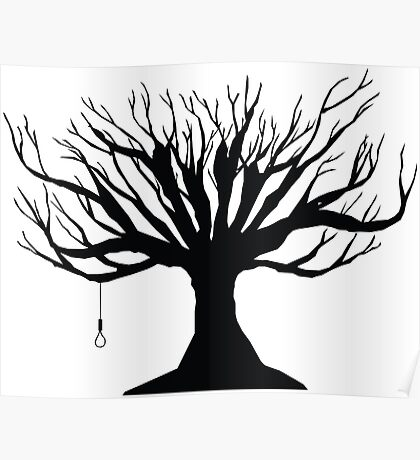 Black Tree With Noose Poster