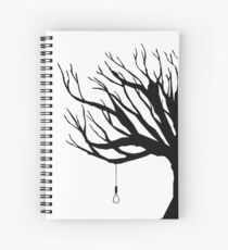 Black Tree With Noose Spiral Notebook