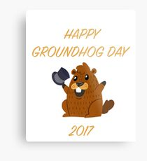Happy Groundhog Day 2017 Metal Print