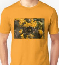 The Enchantment of Butterflies - Yellow Black and Silver Beauty Unisex T-Shirt