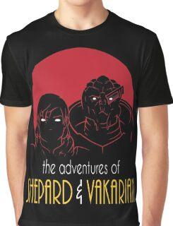 Adventures of FemShep and Vakarian Graphic T-Shirt