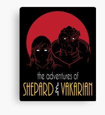Adventures of FemShep and Vakarian Canvas Print