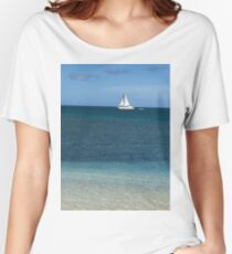 Sailboat in Antigua 2 Women's Relaxed Fit T-Shirt